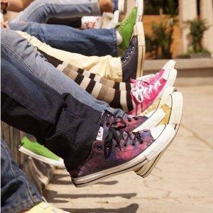 无门槛78折 收经典款新款Converse 帆布鞋热卖 永恒的经典 潮流可以这样简单