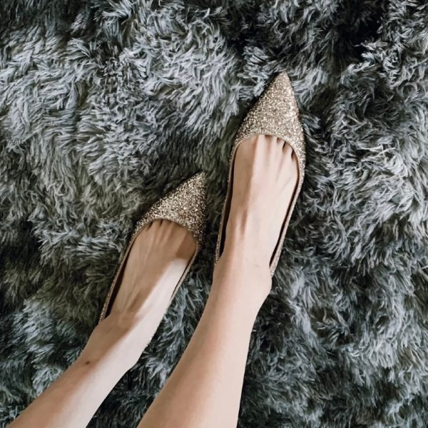 ROMY 亮片穆勒鞋