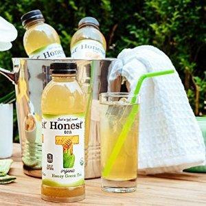 $9.93 蜂蜜甘甜 天然有机Honest Tea 有机蜂蜜绿茶, 16.9Oz 12瓶
