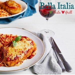 现价£19/两道菜(原价£43)Bella Italia 意大利餐厅双人套餐热促
