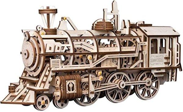 3D 木制拼图-蒸汽火车头
