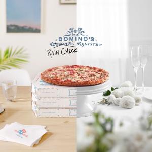 多款披萨套餐送给新婚情侣Domino's 推出Wedding Registry婚礼礼品登记活动