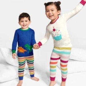 低至5折 $15.98起2021来啦:Gymboree 阔阔耐耐 儿童纯棉家居套装