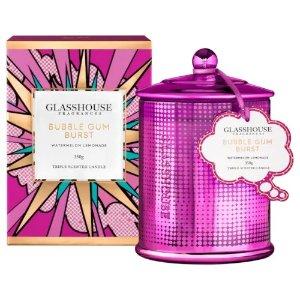 Glasshouse Fragrances返券$15+送洗手液Bubblegum 蜡烛 350g