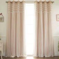 Jacksonburg 蕾丝柔美公主风遮光创帘窗纱