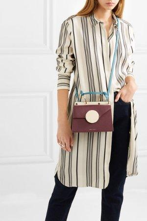 Danse Lente | Phoebe Bis color-block textured-leather shoulder bag | NET-A-PORTER.COM