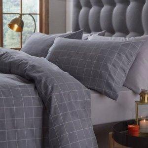 低至2.9折 £52收超舒适鹅绒被Brandalley 床品大促 鹅绒枕被、高级感套装 小清新Muji风