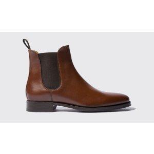 Men's Chestnut Chelsea Boots - Giancarlo | Scarosso