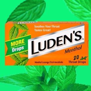 $1.41 免邮Ludens 薄荷润喉糖 20颗