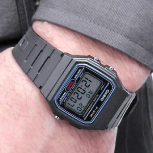 7afc822d4 Casio F91W-1 Classic Resin Strap Digital Sport Watch $6.95 - Dealmoon