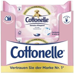 每包44张的舒心 只要€0.9Cottonelle 湿厕纸12包全年装 温和不刺激 敏感肌适用
