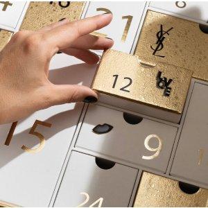 YVES SAINT LAURENT小银条、方管、黑鸦片都有!2021圣诞日历