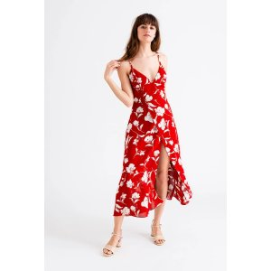 Petite StudioCarly Dress - Red Floral