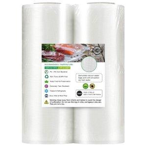 "Geniusidea Vacuum Sealer Bags for Food Saver 11"" x 25'ft"