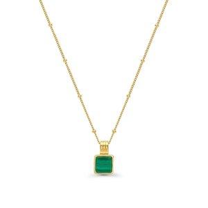 Missoma小方绿宝石项链