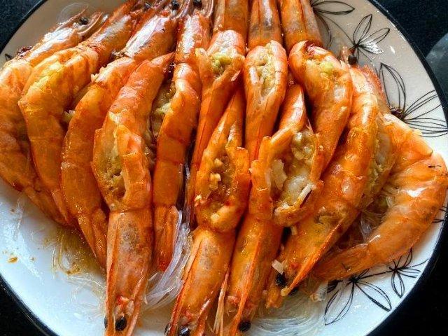 蒜蓉粉丝虾,天生美味