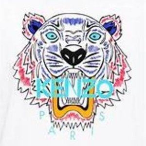 5折起+叠8.5折Kenzo 12.12闪促 收虎头、眼睛等经典元素卫衣、T恤等