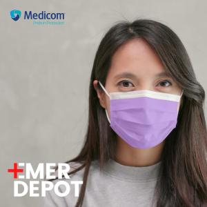 $26.5(原价$35) 满额再减$10Medicom医用口罩 ASTM认证 LV3级 美国制造 细菌过滤高达98%