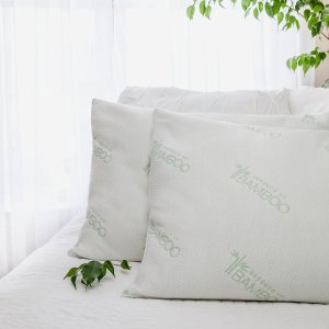 Black Friday Sale Live: Essence of Bamboo Bamboo-Polyfill Pillows, Jumbo (2-pack)