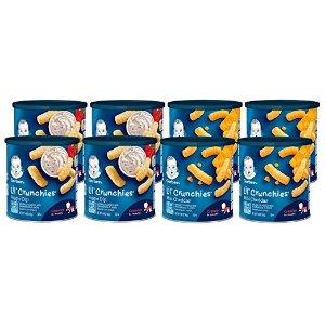 Gerber7.5折+额外9.5折温和奶酪和蔬菜味膨化条 8罐