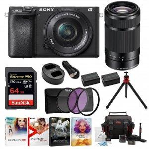 $998無稅 超值一步到位套裝Sony a6400 微單 16-50mm + 55-210mm 雙鏡頭套機
