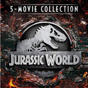 $22.99 (原价$54.98)《侏罗纪世界》5部电影合集 蓝光+数字版