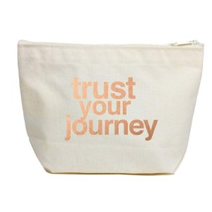 trust your journey rose gold-foiled lil zip