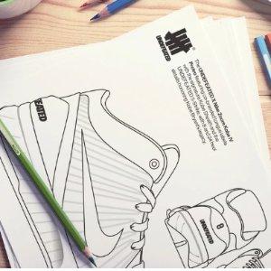 DIY科比联名款球鞋UNDEFEATED 超酷街头球鞋填色书 解压好物 鞋迷快来