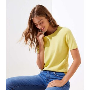 LOFT短袖毛衫