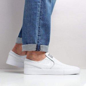 7折热卖+折上8折Nike SB系列Stefan Janoski一脚蹬小白鞋 玩滑板的你必须要有