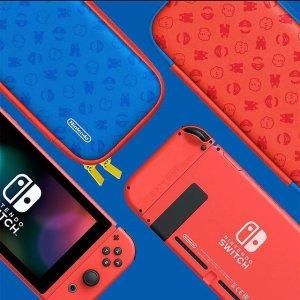 £289收马里奥限定红蓝配色Nintendo Switch 动森、马里奥、怪物猎人限定款都在线