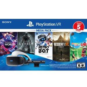 $199 (原价$299)网络周一开抢:PS VR 标准版套装 + 5款热门大作