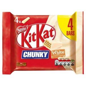 KitKatChunky White Chocolate Bar Multipack 4x40g