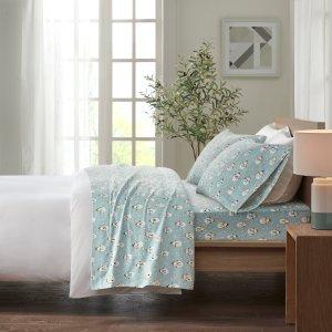 Comfort Classics 舒适法兰绒100%棉床单套装