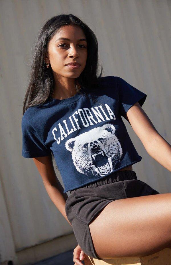 California Bear短款T恤