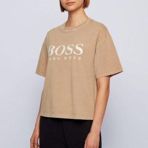 Hugo Boss5折!5色可选有机棉T恤