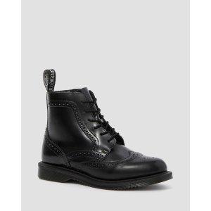 Dr. Martens暗纹拉链马丁靴