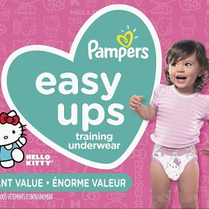 $26.37(原价$37.97)史低价:Pampers Easy Ups女宝宝训练裤 Hello Kitty 图案 (4-6号)