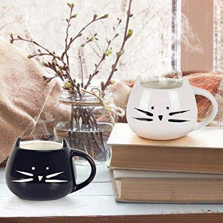 黑白猫情侣杯X2