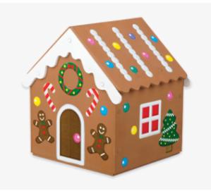 制作姜饼屋12月 Home Depot 免费的儿童手工作坊活动