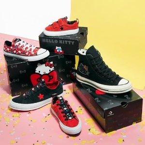 低至8折Converse 经典复古帆布鞋促销 HelloKitty款也参加