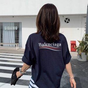 Balenciaga100%纯棉!男女均可穿爆款logoT恤