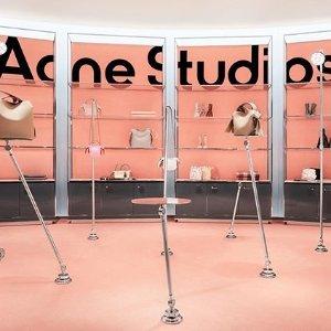 低至5折 多色羊毛围巾$100+Acne Studios 折扣区上新热卖,收Ins超火笑脸鞋、羊毛大衣