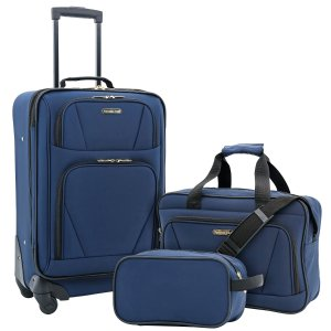 Travelers Club 3PC Expandable 4-Wheel Carry-On Set