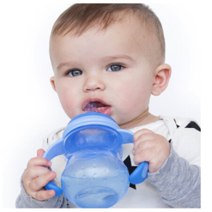 $4Nuby Non-Drip 3-Stage Wide Neck Bottle to Cup, 8 Ounce, Colors May Vary