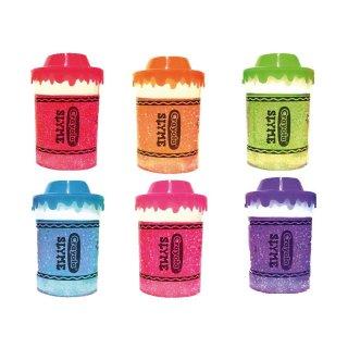 $1.99包邮 或$3两罐白菜价:4.2oz Crayola 彩色带闪Slime彩泥