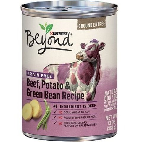 Purina Beyond Beef, Potato & Green Bean Canned Dog Food, 13-oz, case of 12
