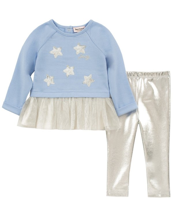 女婴星星长袖+长裤