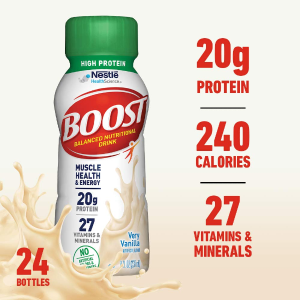 20% OffBoost High Protein Complete Nutritional Drink, Very Vanilla,,24 Pack