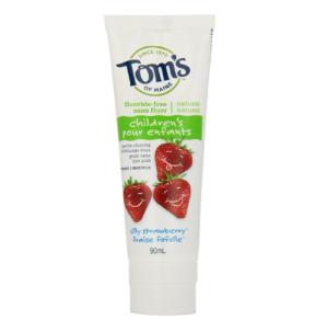 $4.97Tom's of Maine 天然无氟儿童牙膏草莓味 90ml